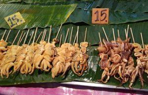 Шашлычки из морепродуктов